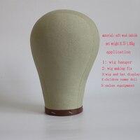 21/22/23/24 beige color Canvas block Wig stand mannequin head wig holder maniquin head hair hanger manikin head