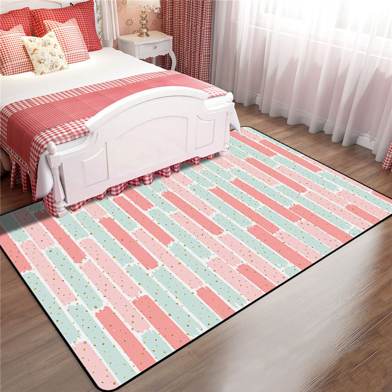 US $9.17 43% OFF|200x300cm Nordic Pink Rugs Thicken Soft Carpet Kids Room  Play Mat Modern Bedroom Bedside Area Rugs Large Carpets for Living Room-in  ...