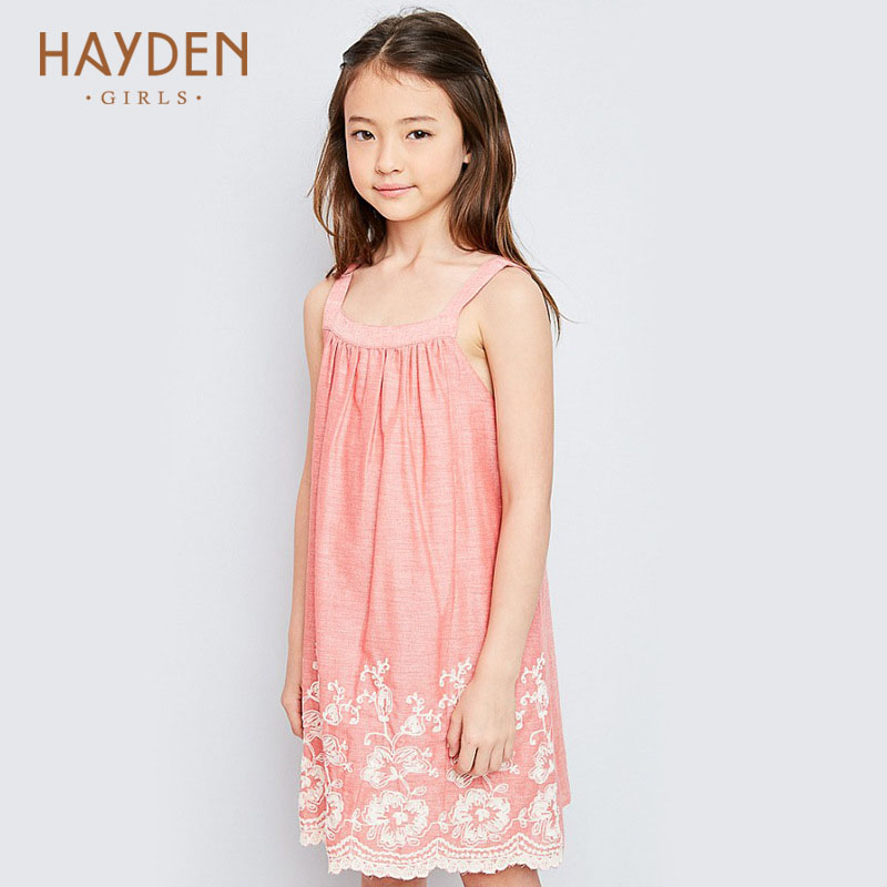 HAYDEN girls dresses summer stripped sundress 7 9 11 years costumes children clothing teenage girls clothes party frocks designs купить