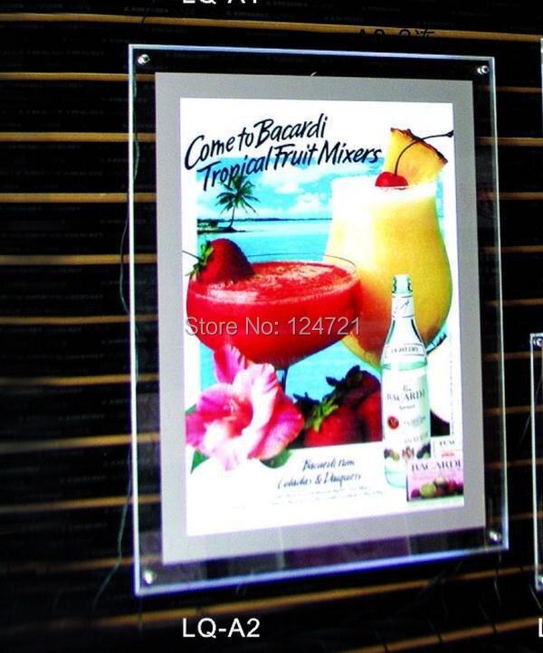 400 мм x 600 мм Maggic Зеркало кристалл акриловые LED тонкий лайтбокс, пользовательские LED плакат Рамки реклама нового 2016