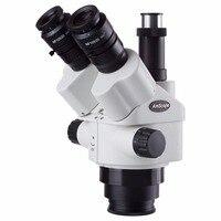 AmScope 7X 45X Simul Focal увеличивающие насадки для микроскопа головка микроскопа
