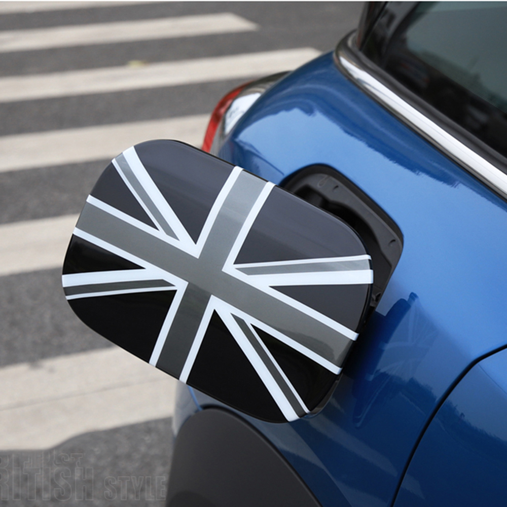 Union Jack Checker Fuel Tank Cap Decoration Case Cover Sticker Housing For Mini Cooper Countryman F60 Car Styling Accessories Car Stickers    - title=