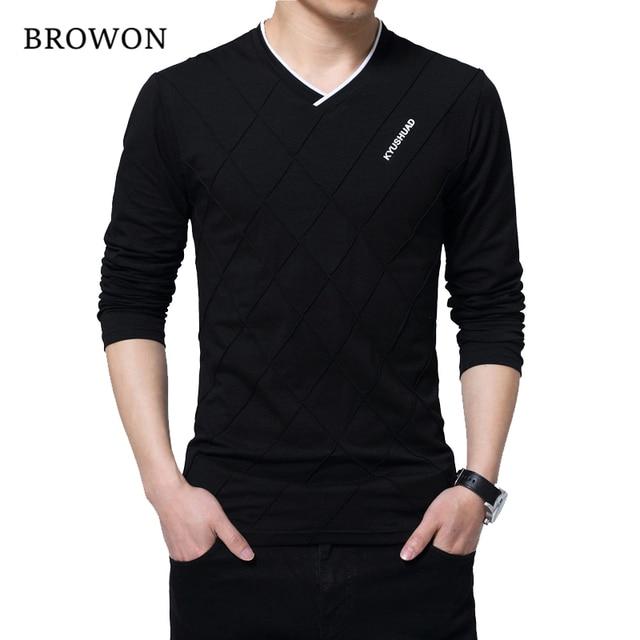 Brown Fashion Men's Slim Fit T-shirt 2