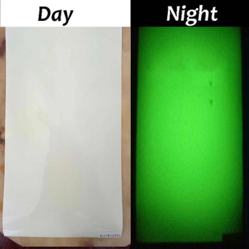 Filme luminoso da cor de 25cm * 25 cm, camiseta do filme da transferência térmica que brilha na noite escura que imprime testes padrões do número da colheita para o esporte desportivo