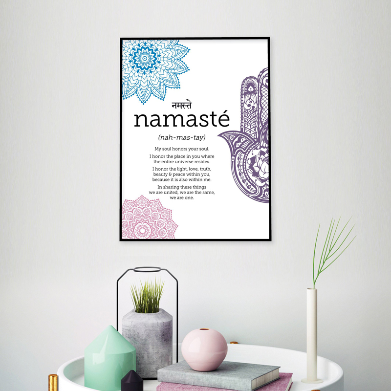 Namaste Definition Print Namaste Poster Zen Yoga Canvas Painting Yoga Wall Art Meditation Printa for Home Decoration in Painting Calligraphy from Home Garden