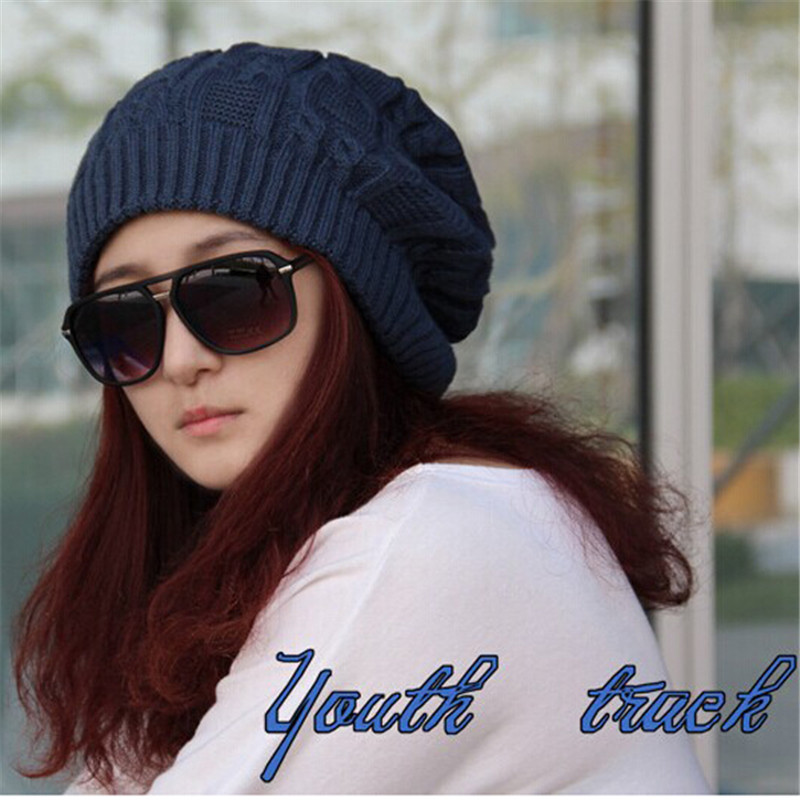 bf3df1c9c69 2018 Winter Hats For Women Warm Knitted Beanies Hat Handmade Female High  Elastic Soft Caps Headgear Free Size Cap-in Skullies   Beanies from Apparel  ...