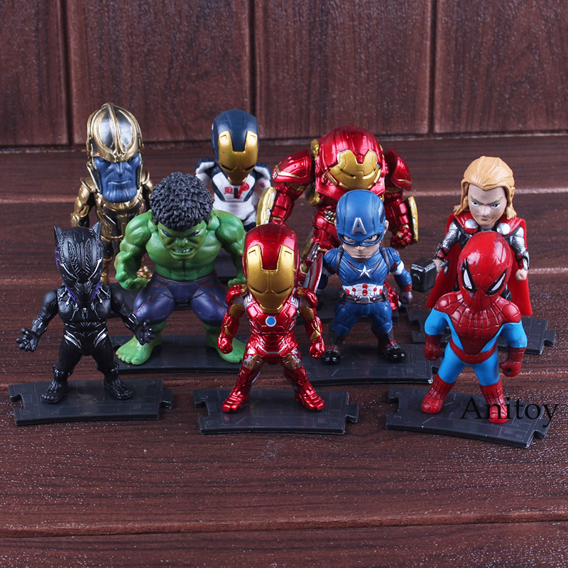 7f00500a US $13.33 18% OFF|The Avengers Super Hero Thanos Hulkbuster Iron Man  Spiderman Hulk Thor Black Panther Captain America Action Figure Marvel  Toys-in ...