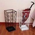 Модный Европейский стиль бытовой Элегантный металлический Железный держатель для хранения зонтов квадратная пустотелая стойка для зонта