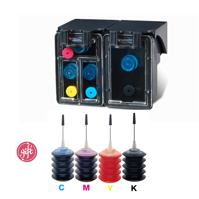 High Quality No 63 63XL refillable Ink Cartridges compatible for HP Deskjet 1110 1112 2130 2131