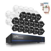 SANNCE 16CH Security Camera System 16 720P IR Weatherproof CCTV System 16 Channels 1080N CCTV DVR