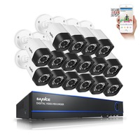 SANNCE 16CH Security Camera System 16 720P IR Weatherproof CCTV System 16 Channels 1080N CCTV DVR
