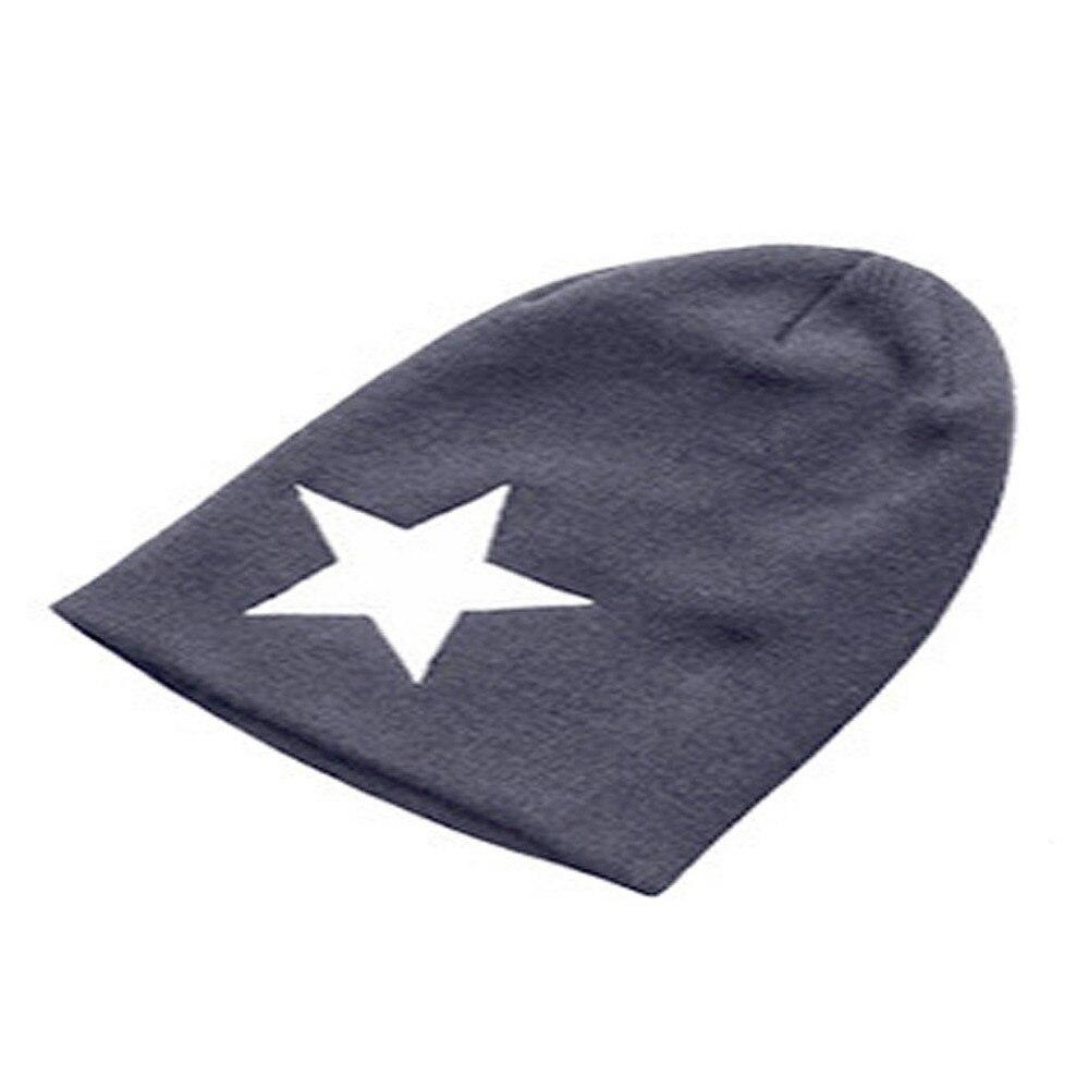 Unisex Pentagram Knitted Hat Hip-hop Hat Sleeve Head Cap Skullies & Beanies Boy skullies hot sale candy colored knit cap sleeve head cap hip hop tide baotou cap 1866717