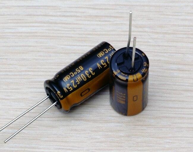 30PCS new Japanese original nichicon audio electrolytic capacitor KZ 330Uf/25V free shipping
