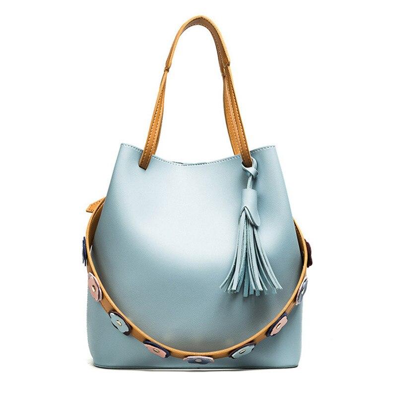 Fashion Casual Tassel Women Litchi PU Leather Bolsa Feminina Top-handle Bag Single Shoulder Bag Women Crossbody Bag