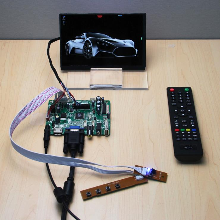 1 x (HDMI+VGA+CVBS+AUDIO+USB) Controller Board+N070ICG LD1 LD3 LD4 L21 7 7Inch 1280*800 IPS LCD Display