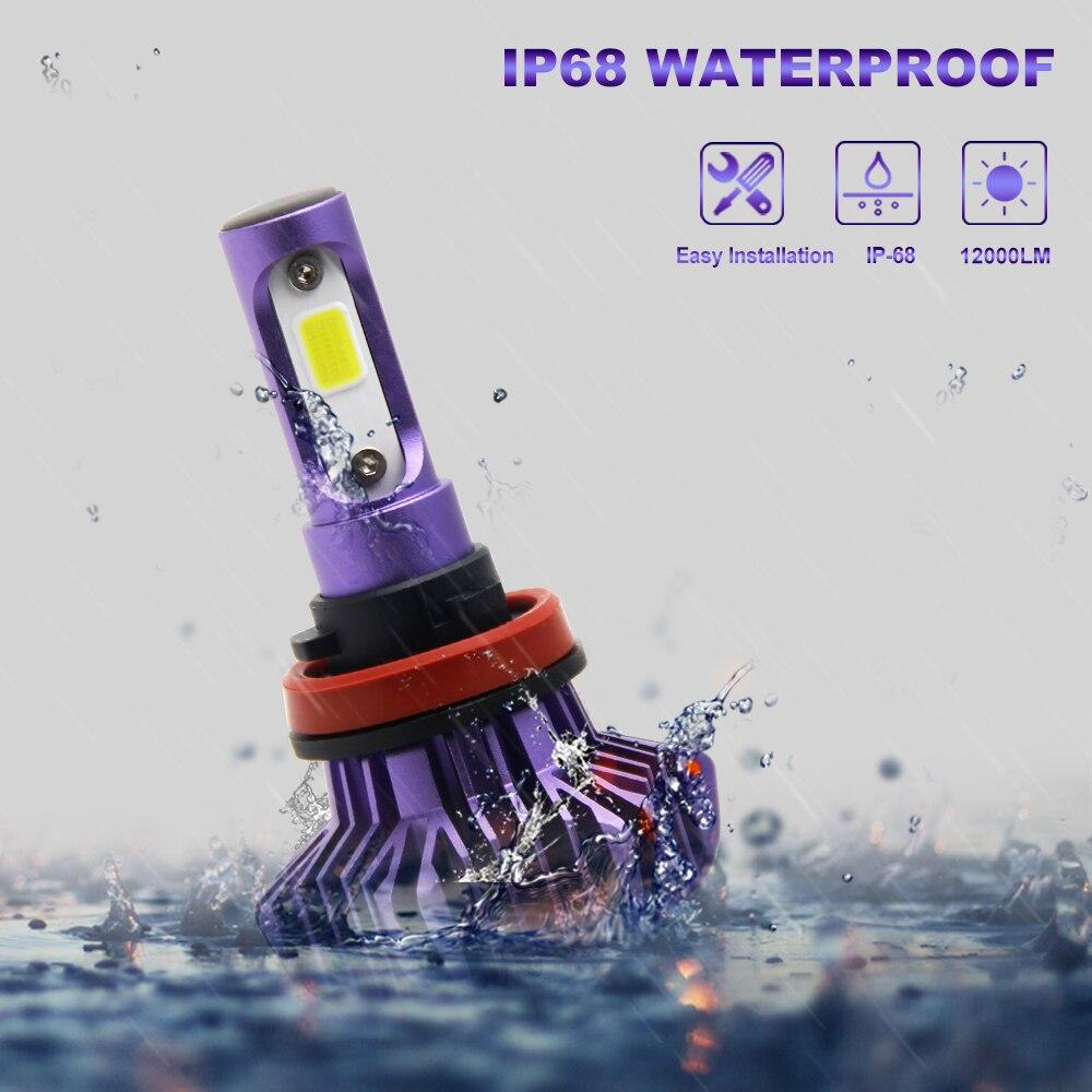 מנורות לרכב נורת LED סופר BraveWay עבור מכוניות לד פנס עבור Auto מנורות 12000LM 80W 12V לרכב אור קרח נורה H1 H4 H7 H11 9005 9006 HB3 BH4 (5)