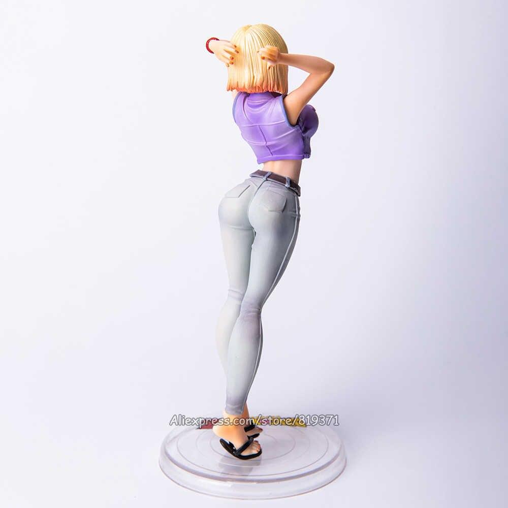 Lazuli Android no.19 18 21 centímetros DragonBall Z Sexy Action Figure Brinquedos Coleção de Bonecas Presente Dragon Ball PVC Super Girl modelo