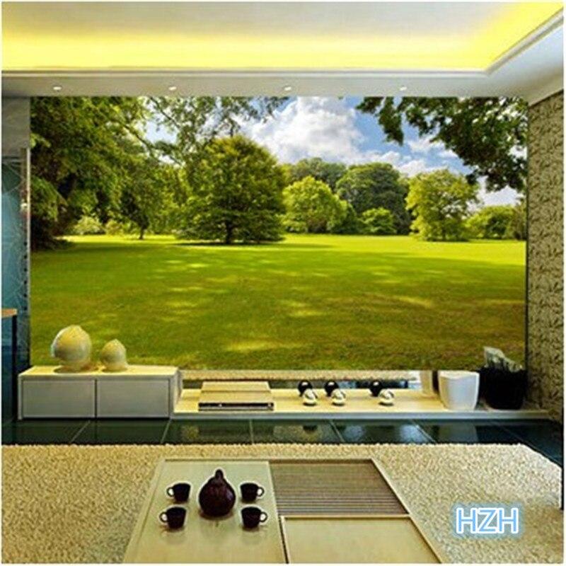 Sob encomenda da foto paisagem Simples sala de estar do
