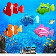 New Lovely Baby Fish Toys Water Spraying Squeeze Sounding Debbling Toys Kids Float Water Rubber Play Animals(China)