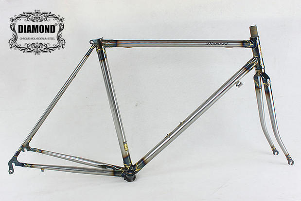 Reynolds 525 Frame Retro Bike Frame Road Bike City Bike Frame Fork Can Be Customized Copper Welding Frame