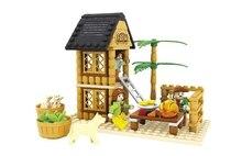 Model building kits compatible with lego friends happy farm 260 3D blocks Educational model building toys hobbies for children