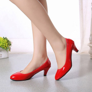 Image 3 - Patent leather Low Heels Shoes Women Professional Shoes Ladies Shallow Mouth Work Shoes Elegant Ladies Office Shoes