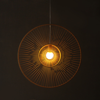 Bamboo bamboo chandelier lamp string and wind Nordic style fashion genuine