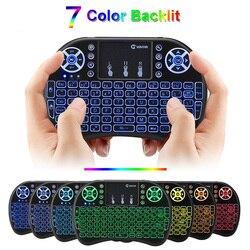 2.4 ghz backlit ar mouse i8 mini teclado sem fio com touchpad backlit teclado controle remoto para android caixa de tv/mini pc/h96