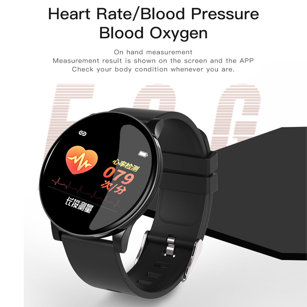 Image 2 - Smart Watch W8 ECG PPG Heart Rate Bracelet Sleep Monitor Blood Pressure Fitness Tracker Waterproof Color Screen Multi Sport Band-in Smart Wristbands from Consumer Electronics