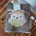 Moda Europa carters Del Bebé de los niños búho conejo coche Patrón de flores Se mantenga Aire acondicionado Rodilla manta manta de dibujos animados