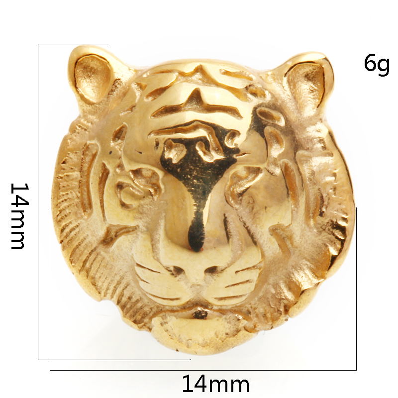 Jewelry & Accessories 1 Pcs Diy Lion Head Beads For Mans Charms Bracelets Copper Plating Kralen Drop Shipping Jewelry Making Supplies
