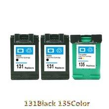 Vilaxh For hp 131 135 compatible ink cartridge for Deskjet 460 5743 5940 5943 6843 1510 1610 D460C 5740 6840 printer