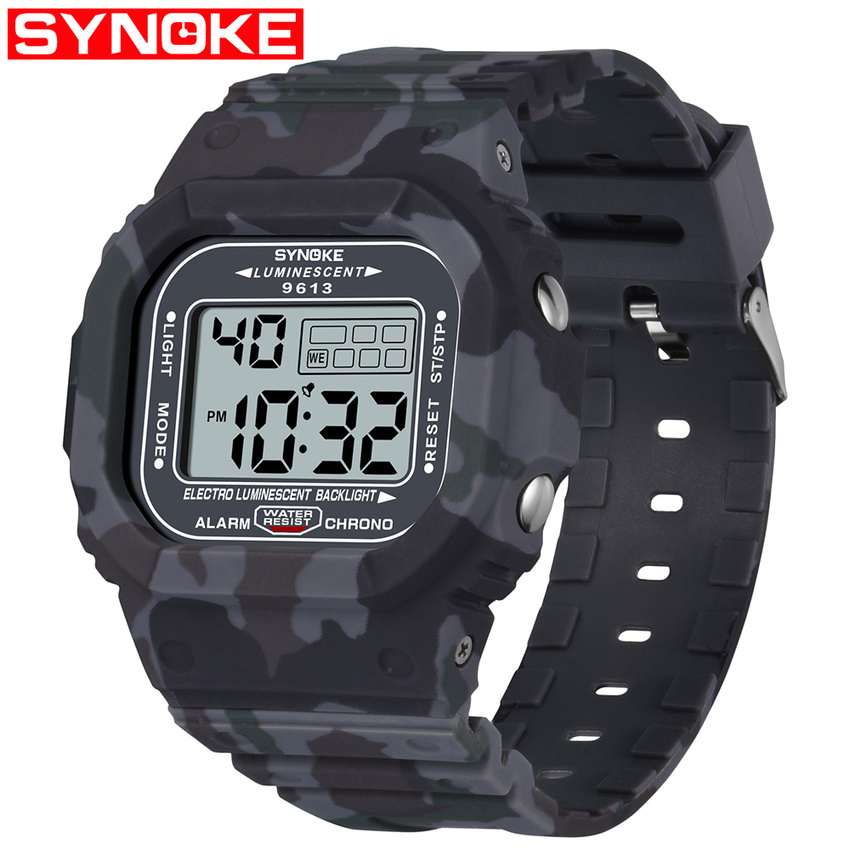 SYNOKE Men Stainless Steel LED Digital Date Alarm Man Sports Watches Military Army Watch Waterproof Outdoor reloj hombreSYNOKE Men Stainless Steel LED Digital Date Alarm Man Sports Watches Military Army Watch Waterproof Outdoor reloj hombre