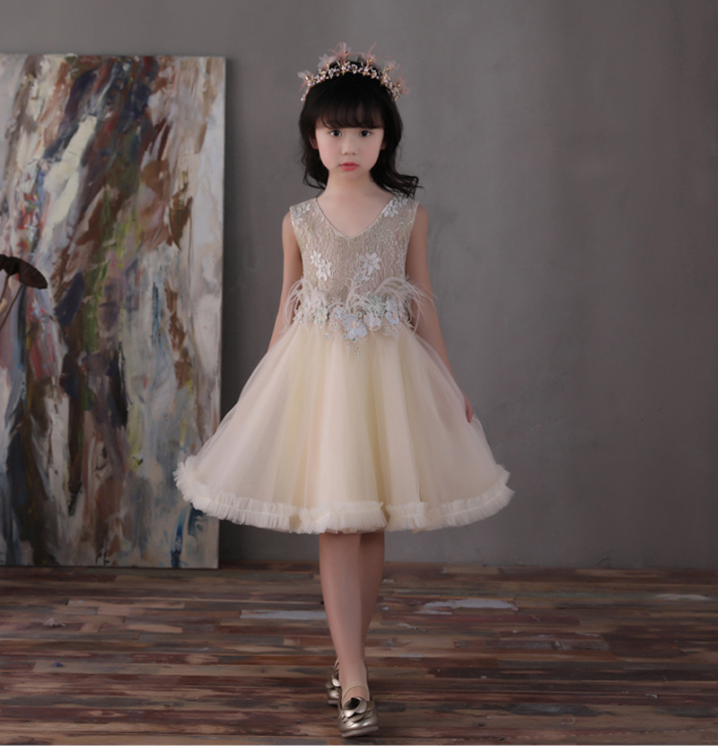 lace Girls dresses summer princess shining clothing baby kids party tutu clothes RETAIL 1BC506DS-35R [Eleven Story]