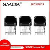 Neue auf lager! Smok Novo pod 2ml mit ersatz mesh und regelmäßige spulen für Novo kit 3ml SMOK novo pod Kit VS Novo pod