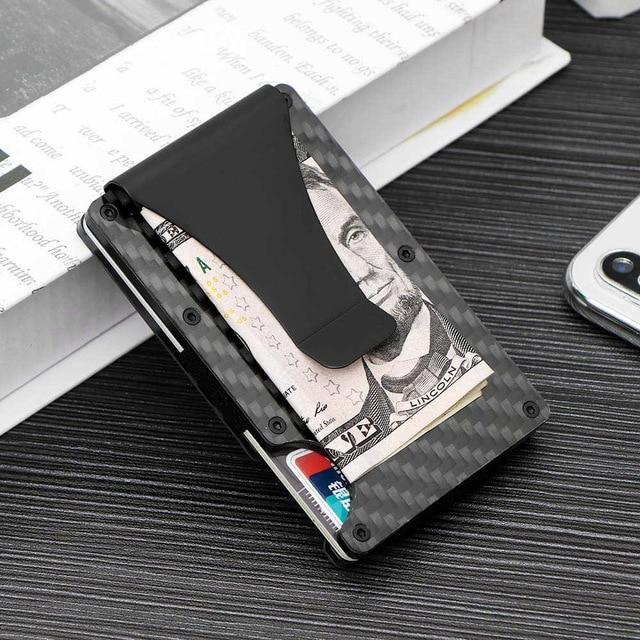 Stainless Steel Letter J Initial 3D Cube Box Monogram Engraved Money Clip Credit Card Holder