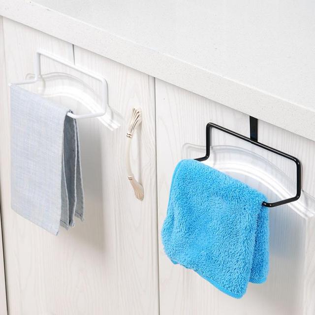 Portable Kitchen Cabinet Over Door Hanging Towel Rack Bathroom Kitchen  Cabinet Cupboard Hanger