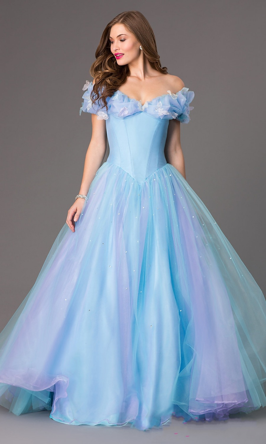 2015 Hot selling ice blue prom dresses for girls MP00 same style as ...