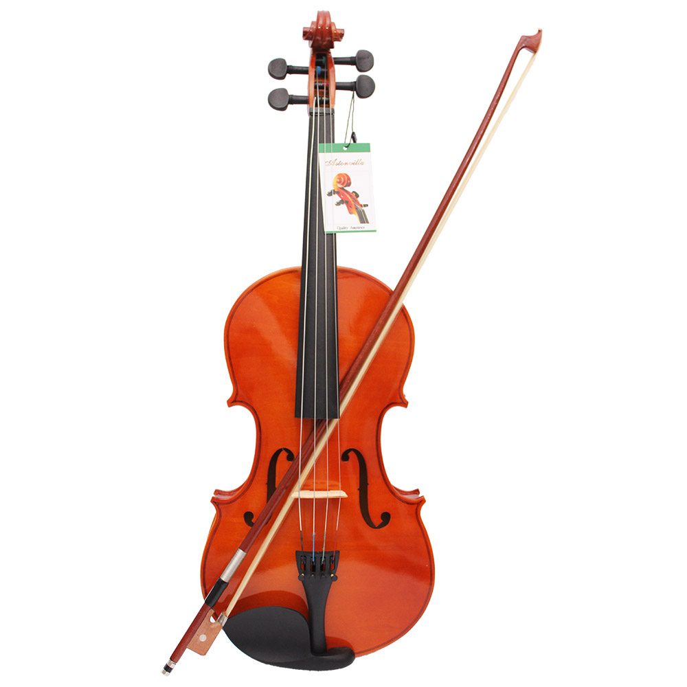 4/4 Full Size Solid Maple Viola of 16 Inch with Case Bow Bridge Rosin and Strings full size viola