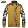 2016 Осень последние модели взрыва Афн Jeep/Battlefield Jeep толстые вязать свитер джемпер жакет M XL плюс бархатная куртка 160