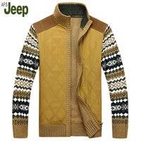 2016 Fall Latest Explosion Models Afs Jeep Battlefield Jeep Thick Sweater Knit Cardigan Jacket M XL