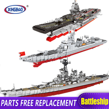 XINGBAO 06020/28/30 New Military Series The Aircraft Ship Battleship Set Building Blocks Bricks Toys Kids Gifts Models MOC