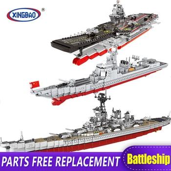 XINGBAO 06020/28/30 New Military Series The Aircraft Ship Battleship Set Building Blocks Bricks Toys Kids Toys Gifts Models MOC