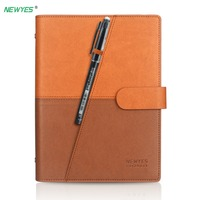 NEWYES Dropshipping Smart Erasable Notebook Leather Paper Reusable Wirebound Notebook Cloud Storage Flash Storage Lined With Pen