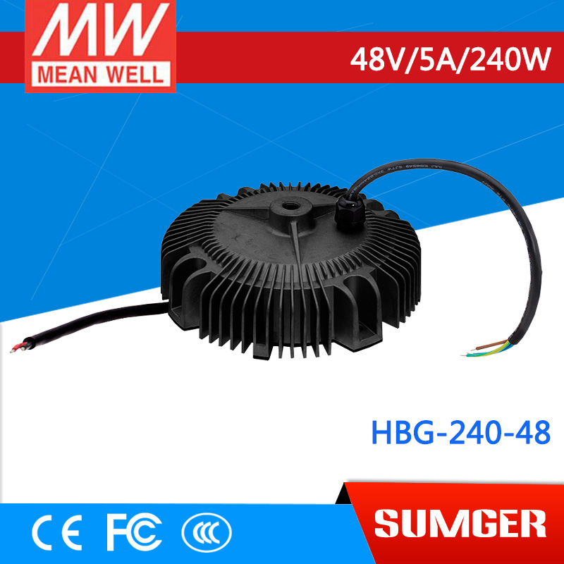 1MEAN WELL original HBG-240-48 48V 5A meanwell HBG-240 48V 240W Single Output LED Driver Power Supply цены онлайн