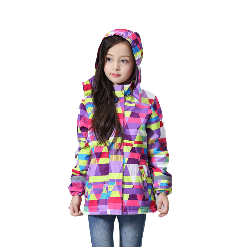 2017 spring Children girls winter coats and jackets girls Outerwear Waterproof Windproof Hooded clothing for