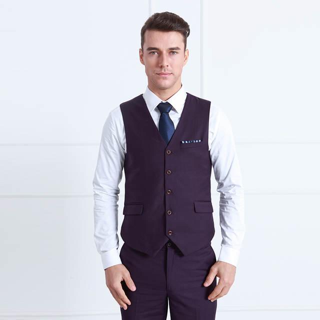 376300c2de3 Online Shop men clothing Coat Pant Designs Wedding Suits For Men Slim Fit  Suits Mens Groom Purple Tuxedos Single Button 3 Pcs Set