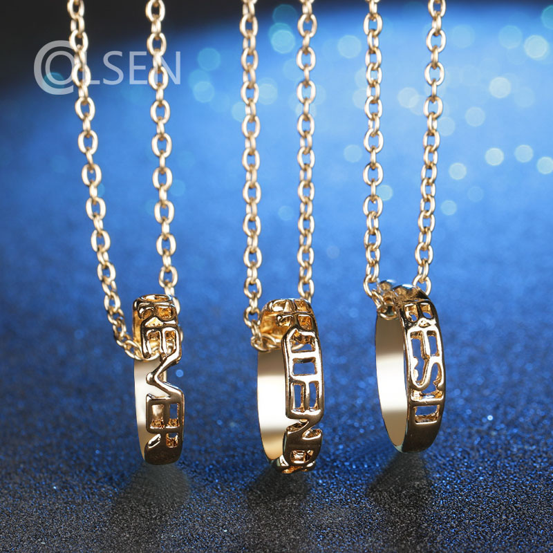 COLSEN 1 set of personalized letters hollow necklace best friend forever friendship pendant female fashion creative