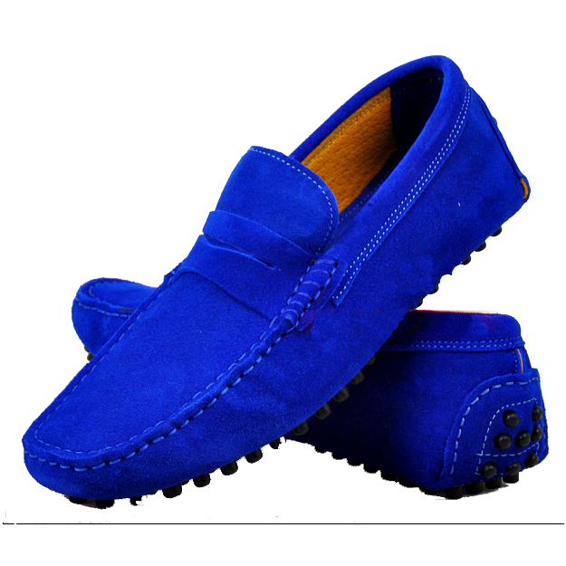 Men Cow Suede Loafers Fashion Summer Leather Casual Shoes Men's soft breathable driving shoes - China Resources Store store