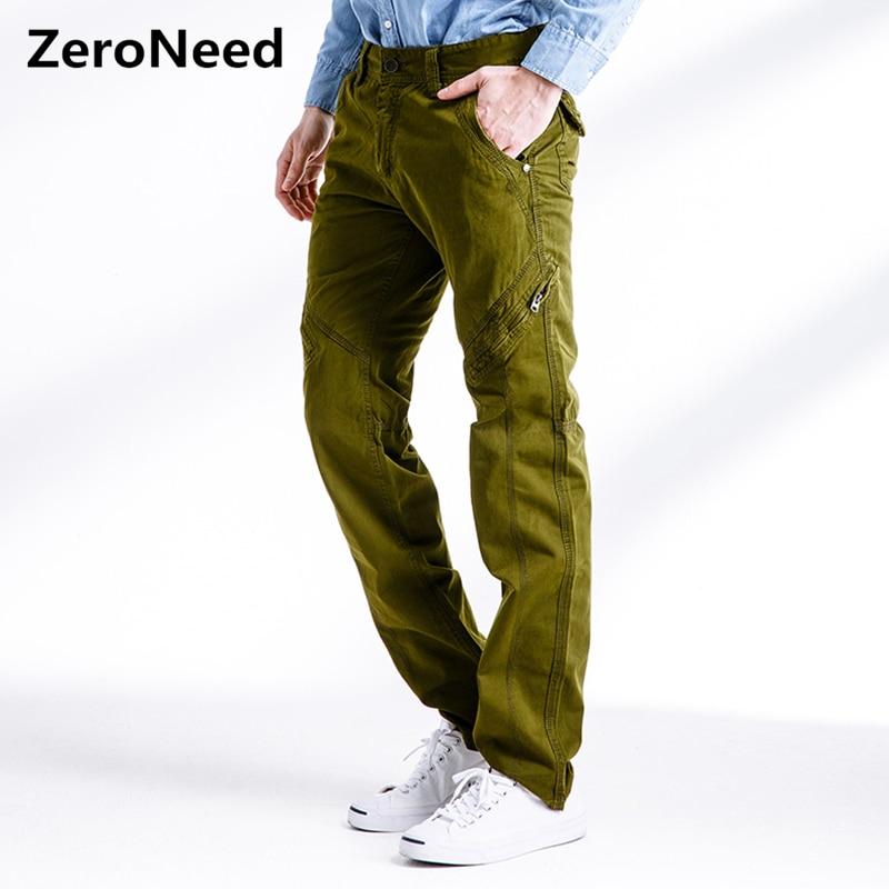 Pantalon Cargo pour hommes poches latérales à glissière pantalon de survêtement décontracté Parkour pantalon hommes coton pantalon militaire armée vert travail Joggers 279